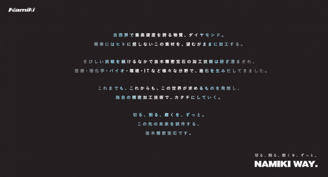 並木精密宝石/採用コンセプト&フライヤーの画像
