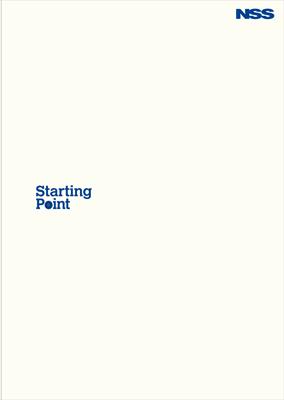 日本総合システム/入社案内パンフレット『Starting Point』01の画像