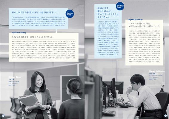 日本総合システム/入社案内パンフレット『Starting Point』03の画像